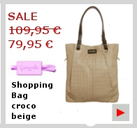 Camomilla Shopping Bag Croco beige