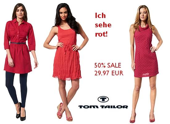 Rote Sommerkleider SALE bei Tom Tailor