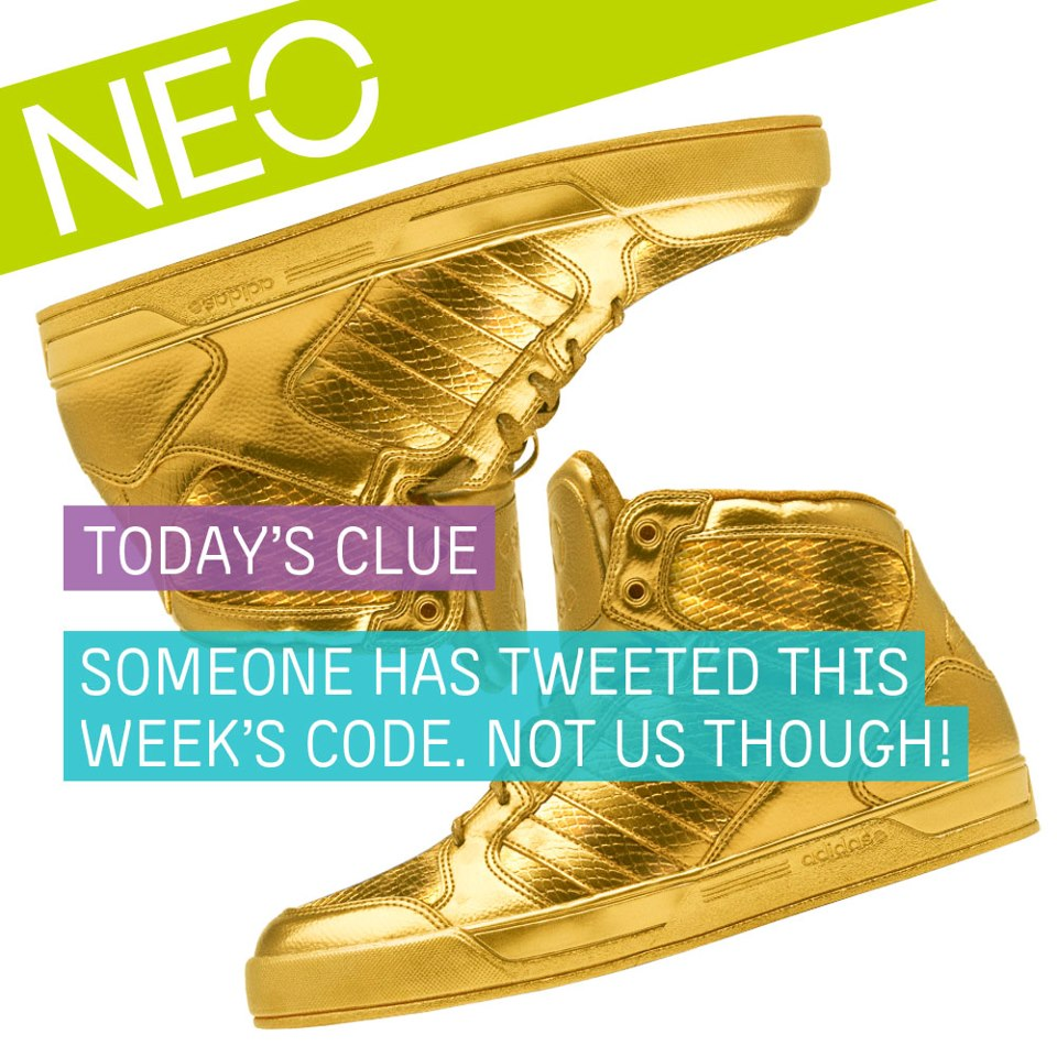 Adidas Neo goldene Schuhe