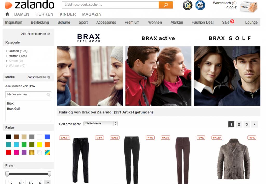 Brax Mode im Zalando Online Shop