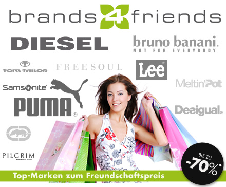 Große Markenauswahl im Shopping Club brands4friends